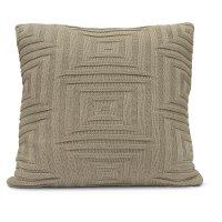 Stone Concentric Throw Pillow