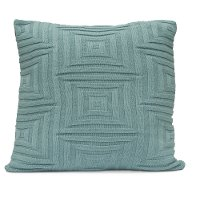 Blue Cloud Concentric Throw Pillow