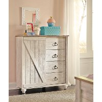 Classic Rustic Whitewashed Dressing Chest - Millhaven