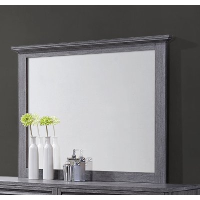 Casual Contemporary Gray Mirror - Sarter