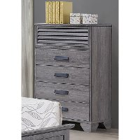 Casual Contemporary Gray Chest of Drawers - Sarter