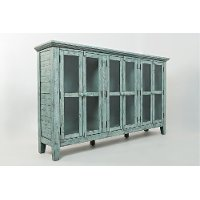 Casual Rustic Surfside Blue Cabinet - Rustic Shores