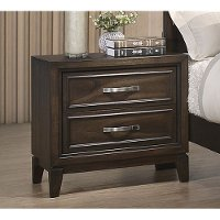 Contemporary Chocolate Brown Nightstand - Tremont
