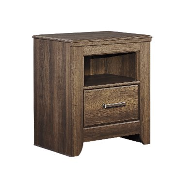 Rustic Modern Driftwood Brown Youth Nightstand - Fairfax