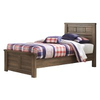 Rustic Modern Driftwood Brown Twin Bed - Fairfax