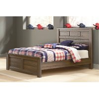 Rustic Modern Driftwood Brown Full Size Bed - Fairfax