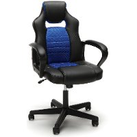 Blue and Black Racing Style Gaming Chair