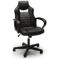 Gray and Black Racing Style Gaming Chair - Essentials
