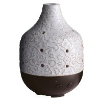 Glazed Ivory Botanical Large Airome Ultrasonic Diffuser - Candle Warmers