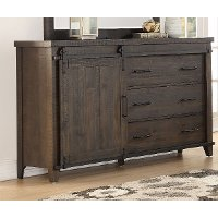 2622-03/DRESSER Rustic Contemporary Weathered Brown Dresser - Montana