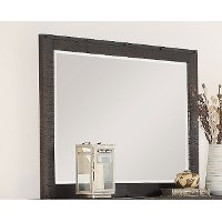 2622-04/MIRROR Rustic Contemporary Weathered Brown Mirror - Montana