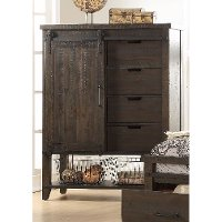 2622-14/GENTLMNCHEST Rustic Contemporary Brown Gentleman's Chest - Montana