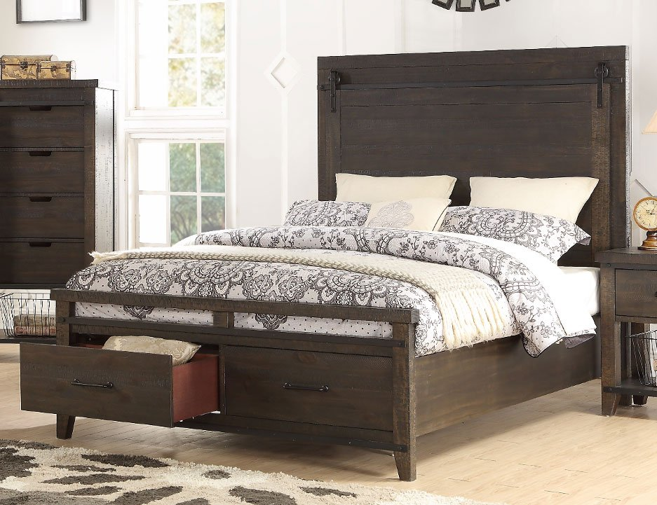 rustic contemporary brown 6 piece queen bedroom set montana rc willey furniture store