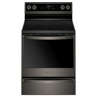 WFE975H0HV Whirlpool 30 Inch Electric Range with Self-Cleaning - Black Stainless Steel