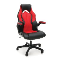 Red and Black Leather Gaming Chair - Essentials