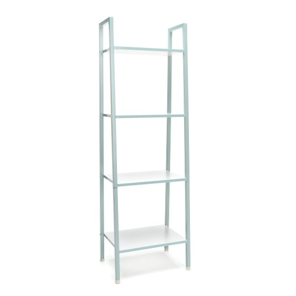 Teal And White 4 Shelf Bookcase