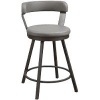 Gunmetal and Gray Modern Counter Height Stool - Appert