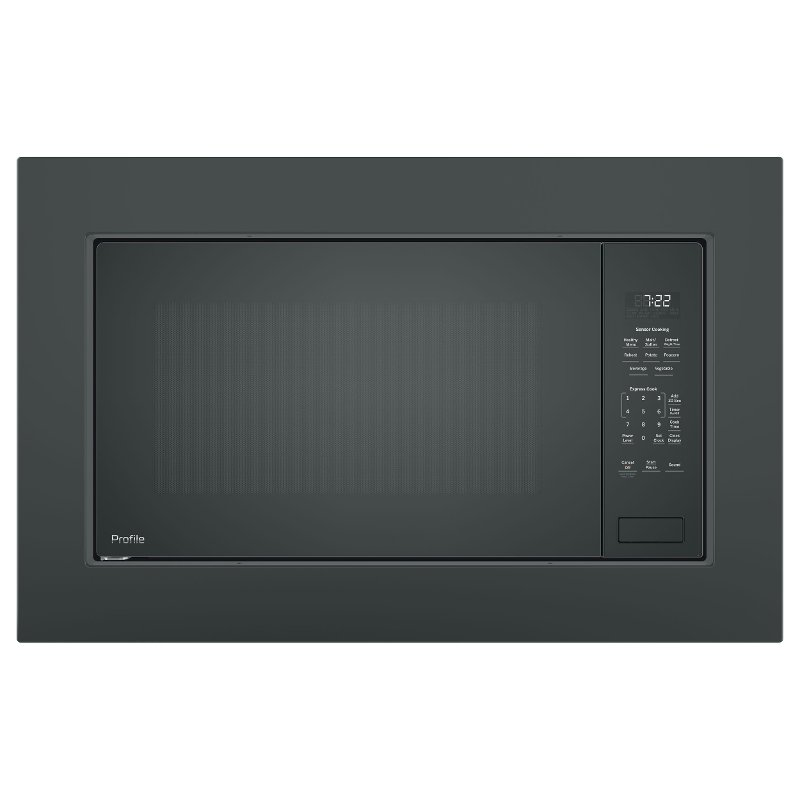 Peb7227dlbb Jx7230dlbb Ge Profile Countertop Microwave With Trim Kit Black Stainless Steel