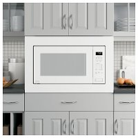 PEB7227DLWW+JX7230DLWW GE Profile Countertop Microwave and 30 Inch Trim Kit - 2.2 cu. ft. White