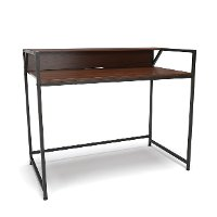 Walnut Brown Computer Desk with Shelf - Essentials
