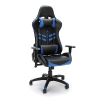 Racing Style Blue and Black Gaming Chair - Essentials