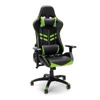 Racing Style Green and Black Gaming Chair