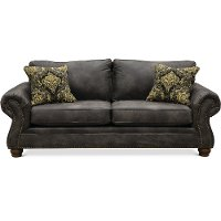 Casual Traditional Graphite Gray Sofa - Tahoe