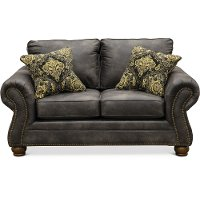 Casual Traditional Graphite Gray Loveseat - Tahoe