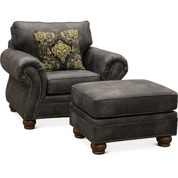 ... Casual Traditional Graphite Gray Chair   Tahoe