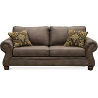 Casual Traditional Oak Brown Sofa Bed - Tahoe