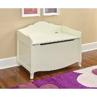 Classic Vanilla White Toy Chest - Torri
