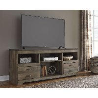 Rustic Gray Wooden 70 Inch TV Stand - Trinell