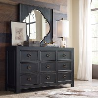 Rustic Traditional Black Dresser - Bishop Hills