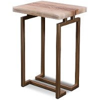 Onyx and Gold Side Table - Spectrum
