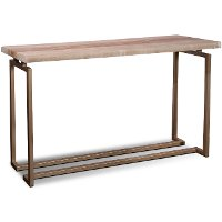 Onyx and Gold Sofa Table - Spectrum
