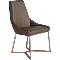 Chocolate Brown Modern Upholstered Dining Chair - Patina