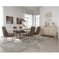 Light Ash and Metal 5 Piece Dining Set - Patina