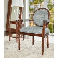 Traditional Blue Accent Chair - Belle