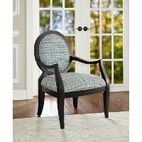 Blue Plaid Accent Chair - Hailey