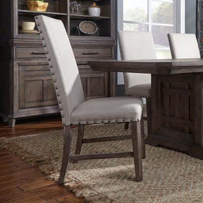 Gray Upholstered Dining Chair - Artisan Prairie