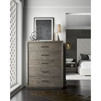 Contemporary Charcoal Chest of Drawers - Modern