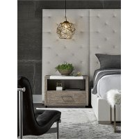 Contemporary Charcoal and White Nightstand - Modern