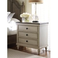 Traditional Two-Tone Nightstand - Brookhaven