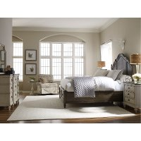 Traditional Two-Tone 4 Piece Queen Bedroom Set - Brookhaven