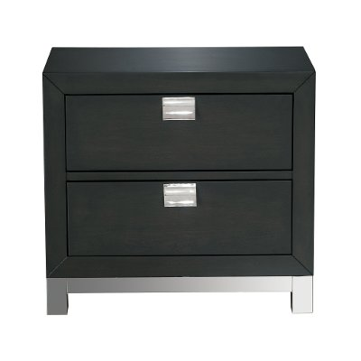 Modern Charcoal Gray Nightstand - Metro