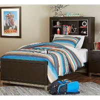 Modern Charcoal Gray Full Size Bed - Metro