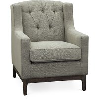 Beige and Black Tapestry Accent Chair - Princeton