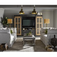 Cobalt Black 4 Piece Modern Entertainment Center - Darcy