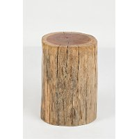 Hardwood Stump Accent Table - Global Archive
