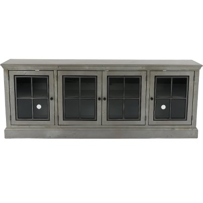 84 Inch Rustic Gray Entertainment Center Console - Churchill